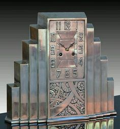 And So It Goes...: Art deco clock. Circa 1930s