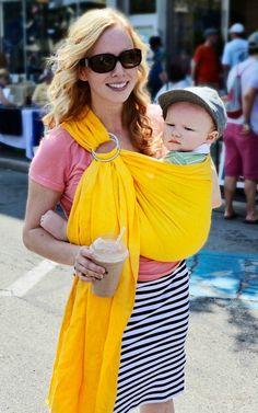 mango ring sling- how cute ! Babies Stuff, Cute Babies, Ring Sling, Baby Sling, Baby Carriers, Baby Makes, Babywearing, Niece And Nephew, Best Mom
