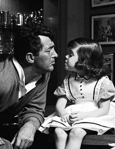 """Dean Martin and daughter Gina by Sid Avery, c.1961 """