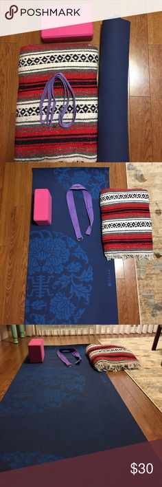 Yoga for beginners Includes yoga mat, one block, one new strap and a yoga hippy blanket. Beyond Yoga Accessories