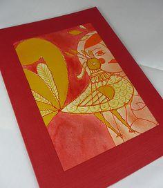 russian folk art | Russian Folk Art Bird Card 1 | Flickr - Photo Sharing!