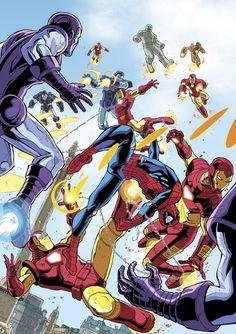 Spider-Man vs. Iron Men - Andie Tong