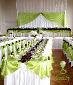 Zeleno-hnedá výzdoba Svadba Katka a Peťo « Guty – Dekoračné štúdio wedding hall decorations