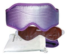 Sleep Mask JAMWA-Is Lavender, Included Germanium Eye-Gel Pack and Pouch for Carrying/Storage