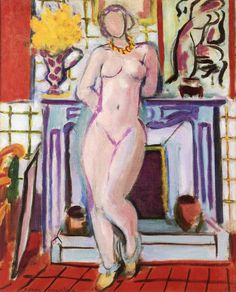 Nude Standing in front of the Fireplace, Henri Matisse