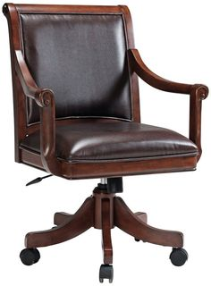 leather game chairs with casters