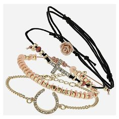 Topshop Mixed Charm Bracelets (Set of 4) - Polyvore