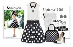 """Sheinside Polka Dots Skirt"" by elena-indolfi ❤ liked on Polyvore featuring NLY Accessories"