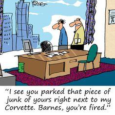 Saturday Morning Corvette Comic: Parking Issues