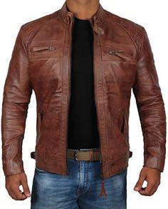 ef579ef263531 Mens Genuine Biker Distressed Vintage Leather Jackets