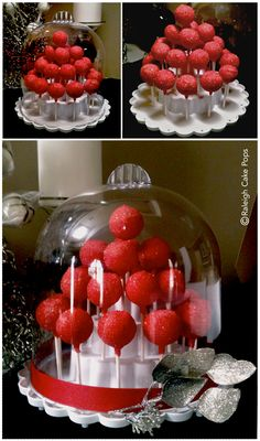2 piece stand with a white molded plastic base and clear acrylic domed lid Base measures 11″ wide by 5″ high and contains 3 tiers Domed lid measures 11″ high by 9.5″ wide You must use 4-inch lollipop sticks with the base. Stand holds 25 cake pops (or treats on a stick) with the lid and 37 without the lid