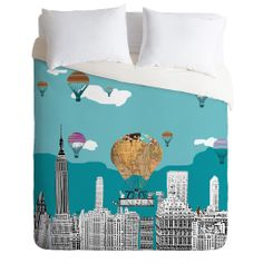 Brian Buckley Adventure Days New York Duvet Cover   DENY Designs Home Accessories new york like on other .....follow the magic into your dreams