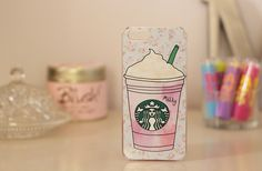 I want this ♡ super cute cotton candy frappe iPhone case