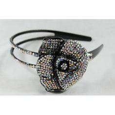 Irodenscent Flower Rhinestone Headband, Perfect for Women, Teens & Girls, Bling Bling Hair Accessory