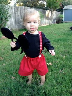 toddler mickey mouse costume by jmscramblers how cute such a creative costume idea - Baby Mickey Mouse Halloween Costume