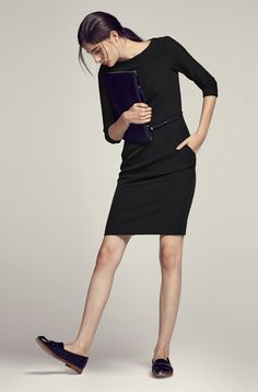 The works-every-time belted dress (the Etsuko)