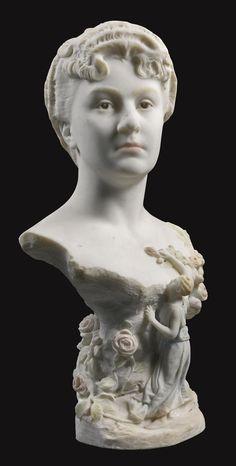 Jean-Leon Gerome (1824-1904) Bust Of Madeleine Juliette, The Artist's Daughter (66 cm)
