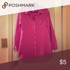 Pink sleep dress / top Cute and perfect for sleeping in! Would fit a M - XL Intimates & Sleepwear Pajamas