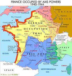 Vichy France Map (malheureusement en anglais)