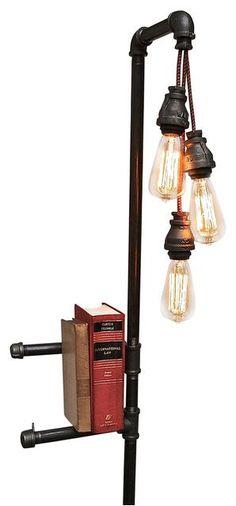 Possum Belly Industrial Floor Lamp Bookshelf industrial floor lamps