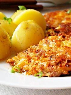 Kuřecí sýrovo-bylinkové placičky