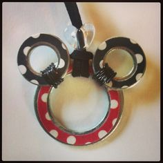 Minnie washer necklace