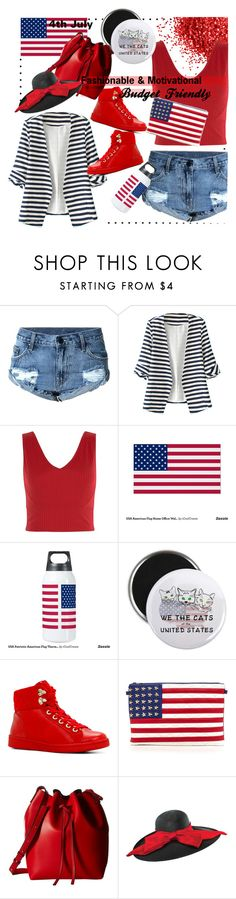 """4th of July Fashion"" by curatedgoldenclosets-shehnaz ❤ liked on Polyvore featuring WithChic, New Look, ALDO, Gabriella Rocha and Scala"