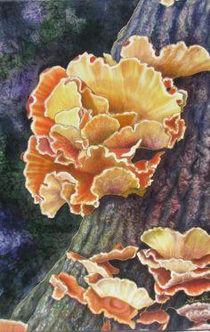 Attention seeker  Alena Vyborna.   Silk Painting