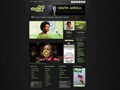 Ubuntu Radio Responsive Website by Eric Ratshili , via Behance