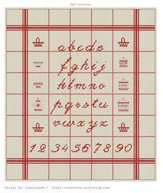 alphabet - point de croix - cross stitch - Blog : http://broderiemimie44.canalblog.com/