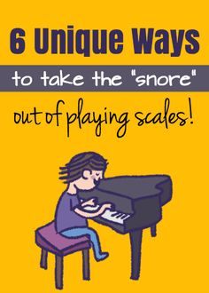 "These 6 ""scale games"" are easy to play, but make scales much more FUN to drill. All you need is a piano and a student! #PainoTeaching"