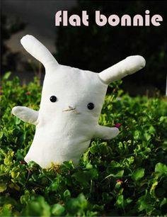 Adopt Flat Bonnie, the plush rescue bunny!
