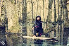 Biggi, Kiel 2014. // #surfer #surf #surfergirl #surfing #waverider #wetsuit #neo #neopren #asian #asianlooking #asiangirl #asiatin #portrait #photography #fotografie #barfuss #barefoot #frau #woman #girl #maedchen #swamp #sumpf #editorial