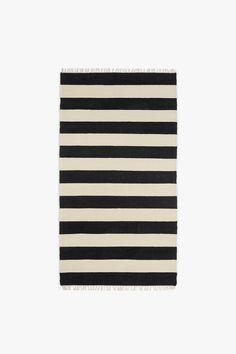 Wide Stripe Rug - Black