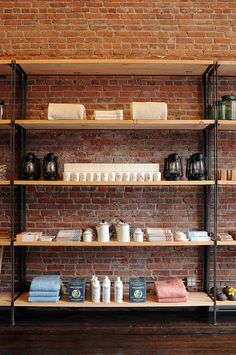 Something I would love to incorporate into this design is a bare brick wall interior. I think it adds an element of authenticity which vintage and charity shops crave thus something which their demographic may also find appealing