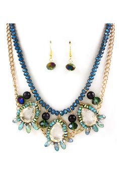 Diana Crystal Necklace Set