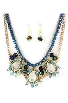 Diana Crystal Necklace Set
