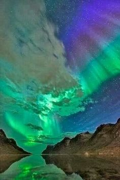 Northern lights Norway beautiful!