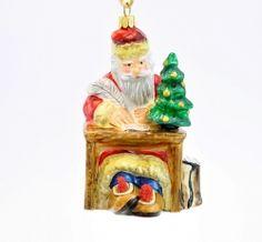 Santa Writing Letter - Polishchristmasornaments
