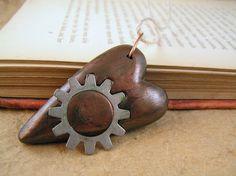 Steampunk gear heart pendant  by TheAmethystDragonfly, $22.00 USD