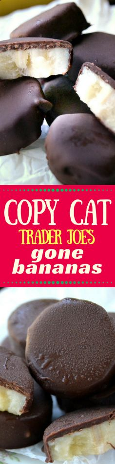 Copycat Trader Joe's Gone Bananas is one of the simplest recipes on the blog, and one of the most outrageously delicious frozen desserts you'll ever eat! ~ theviewfromgreatisland.com