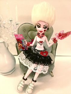 """OOAK Monster High Custom Doll """"Punk Rock Love"""" Doll Clothes Shoes Accessories 