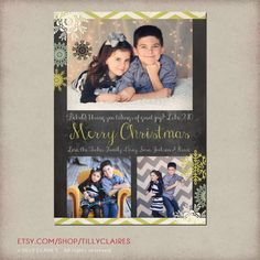 YOU PRINT Chalkboard Christmas or Holiday Photo by TillyClaires, $15.00