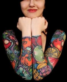 Beautiful Arm Tattoos For Girls.Design tattoo for fashion girls.  #tattoo #arm #girls www.loveitsomuch.com
