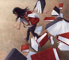 La lectura nos persigue, a veces en contra de nuestra voluntad (ilustración de Ian Kim)