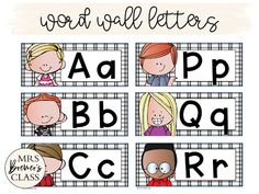 This pack contains alphabet letter cards, a Word Wall bulletin board header, and editable word template cards to type in whatever words you like! The alphabet cards feature Melonheadz Kidlettes! Don't you hate getting premade Word Wall sets, only to find they don't have all the words you need? Or maybe you'd like to add student names to your Word Wall? Well now you can! #wordwall #kindergarten #1stgrade #2ndgrade #literacy #backtoschool Word Wall Letters, Alphabet Cards, Your Word, New Words, Classroom Organization, Bulletin Board, Decoration, Header, Literacy