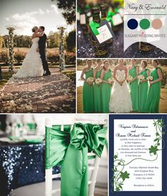 blue and emerald green wedding - Google Search