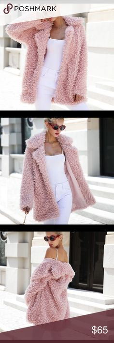 Faux Fur Coat 💕💝 Val. Gift 🧥🌸Women's pink soft fur coat comes in sizes up to 3XL 🌸🧥1-2weeks Shipping (not real fox fur) Jackets & Coats Puffers