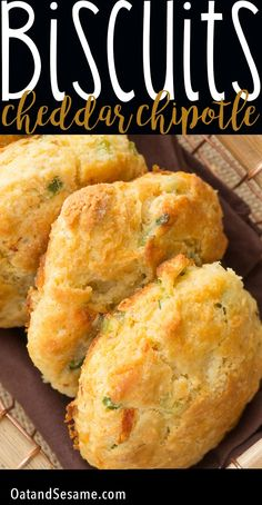 Four Kitchen Decorating Suggestions Which Can Be Cheap And Simple To Carry Out White Cheddar Chipotle Cornmeal Biscuits. Mushy Savory Biscuits That Are Crumbly And Tender. So Easy And Perfect For Breakfast, Lunch And Dinner Recipe At Side Dish Recipes, Bread Recipes, Baking Recipes, Bisquick Recipes, Cornmeal Recipes, Side Dishes, Frugal Recipes, Sweets Recipes, Muffin Recipes