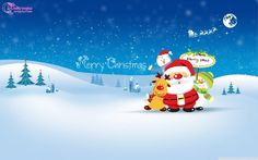 Merry Chirstmas santa cartoon christmas greetings for kids hd wallpaper desctop happy holidays